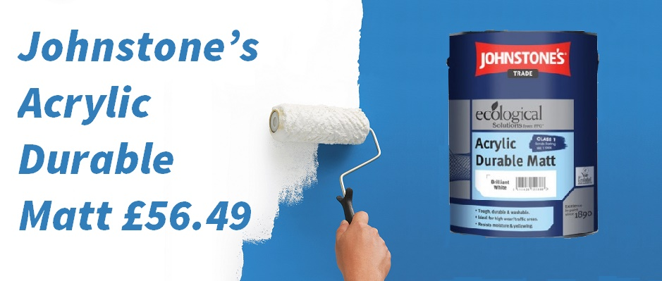 Johnstone's acrylic durable matt trade paint